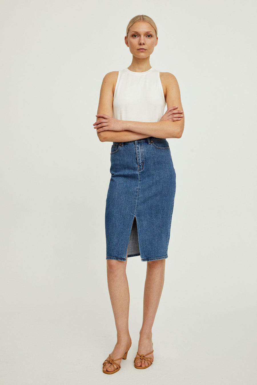 KASSANDRA SKIRT - DENIM BLUE Skirt Stylein
