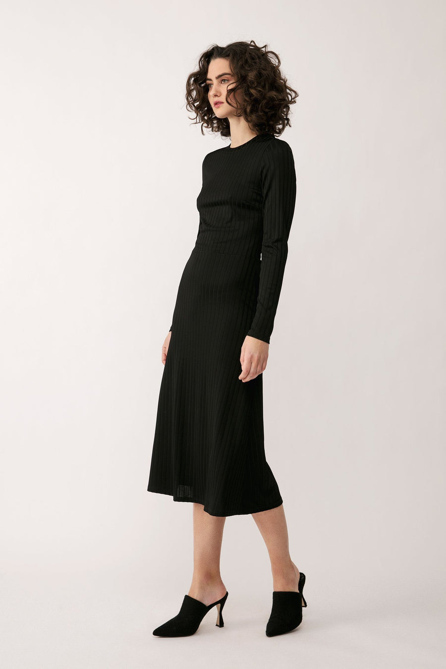 PALAZZO DRESS - BLACK Dress Stylein