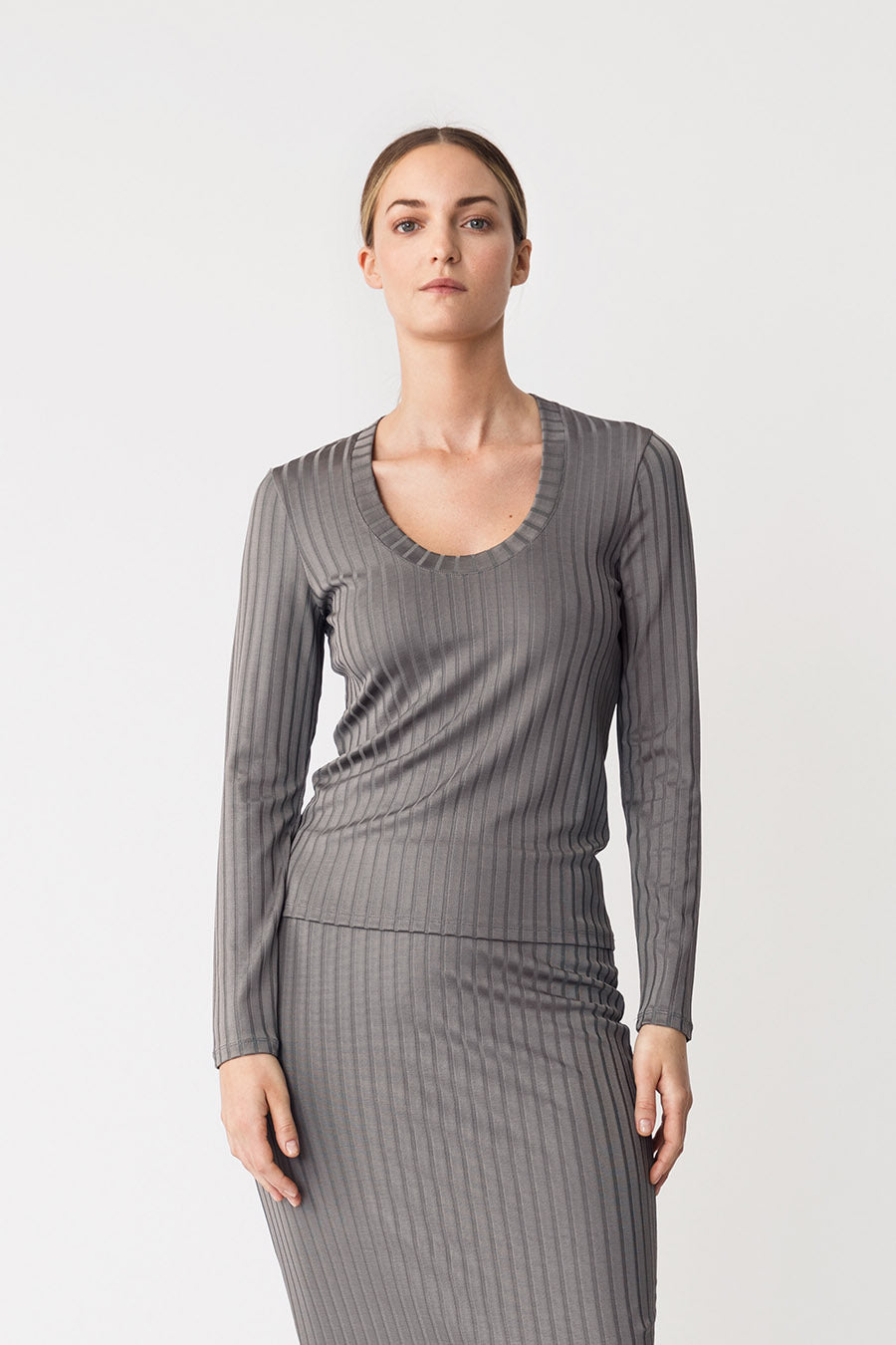 PETRONELLA TOP - DARK GREY
