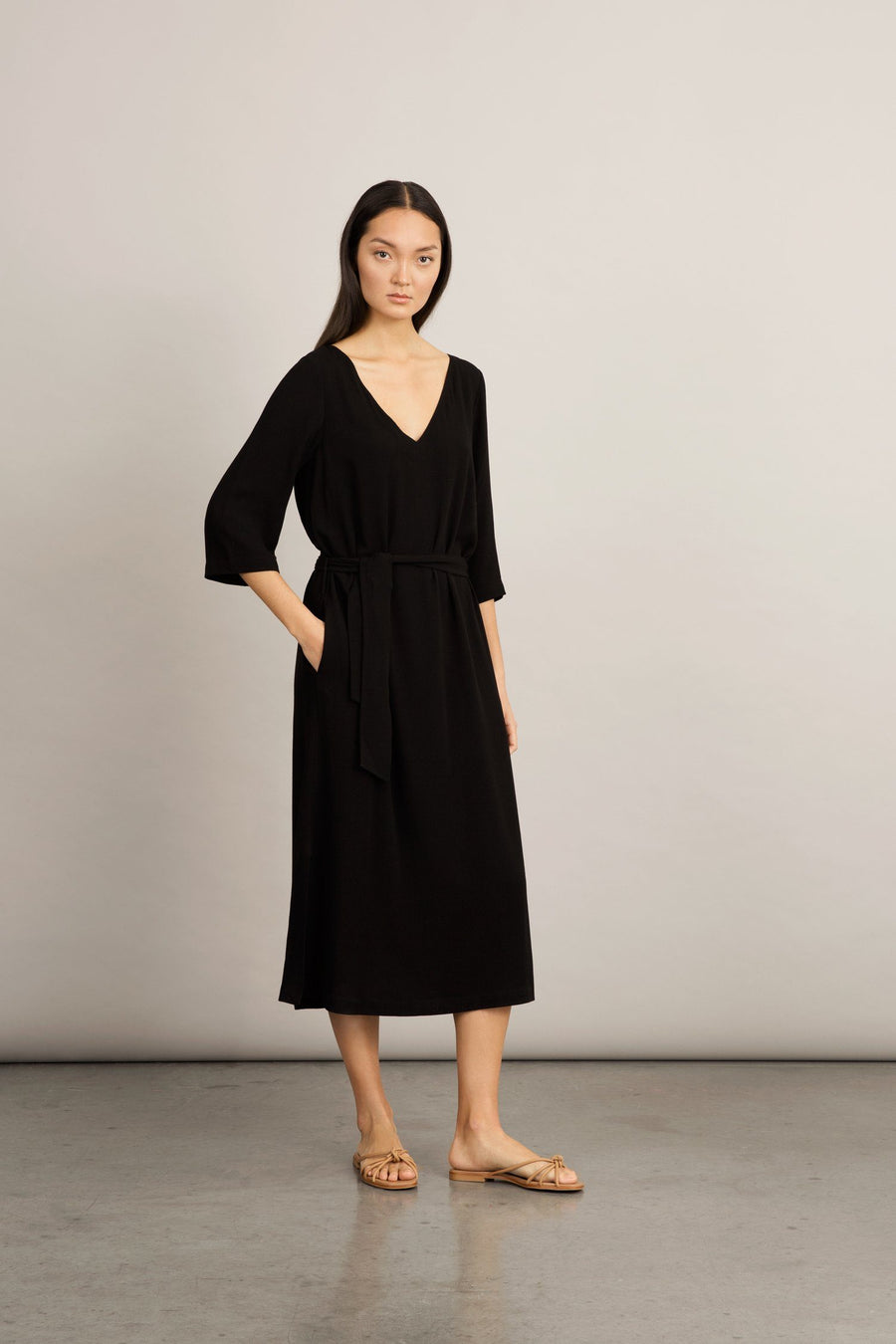 SENNA DRESS - BLACK Dress Stylein