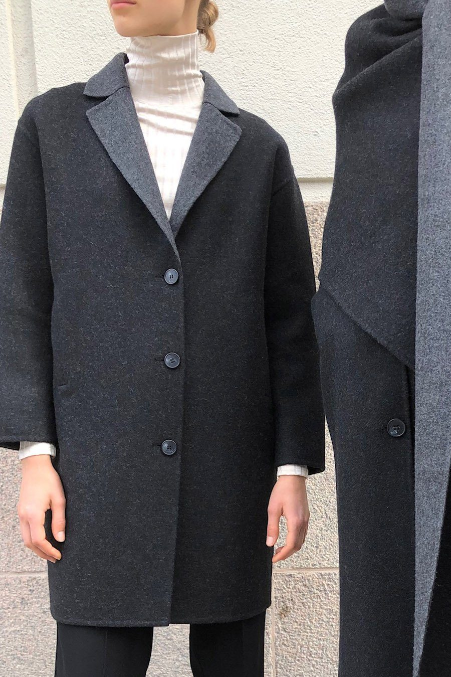 TESSA COAT - DARK GREY Coat Stylein