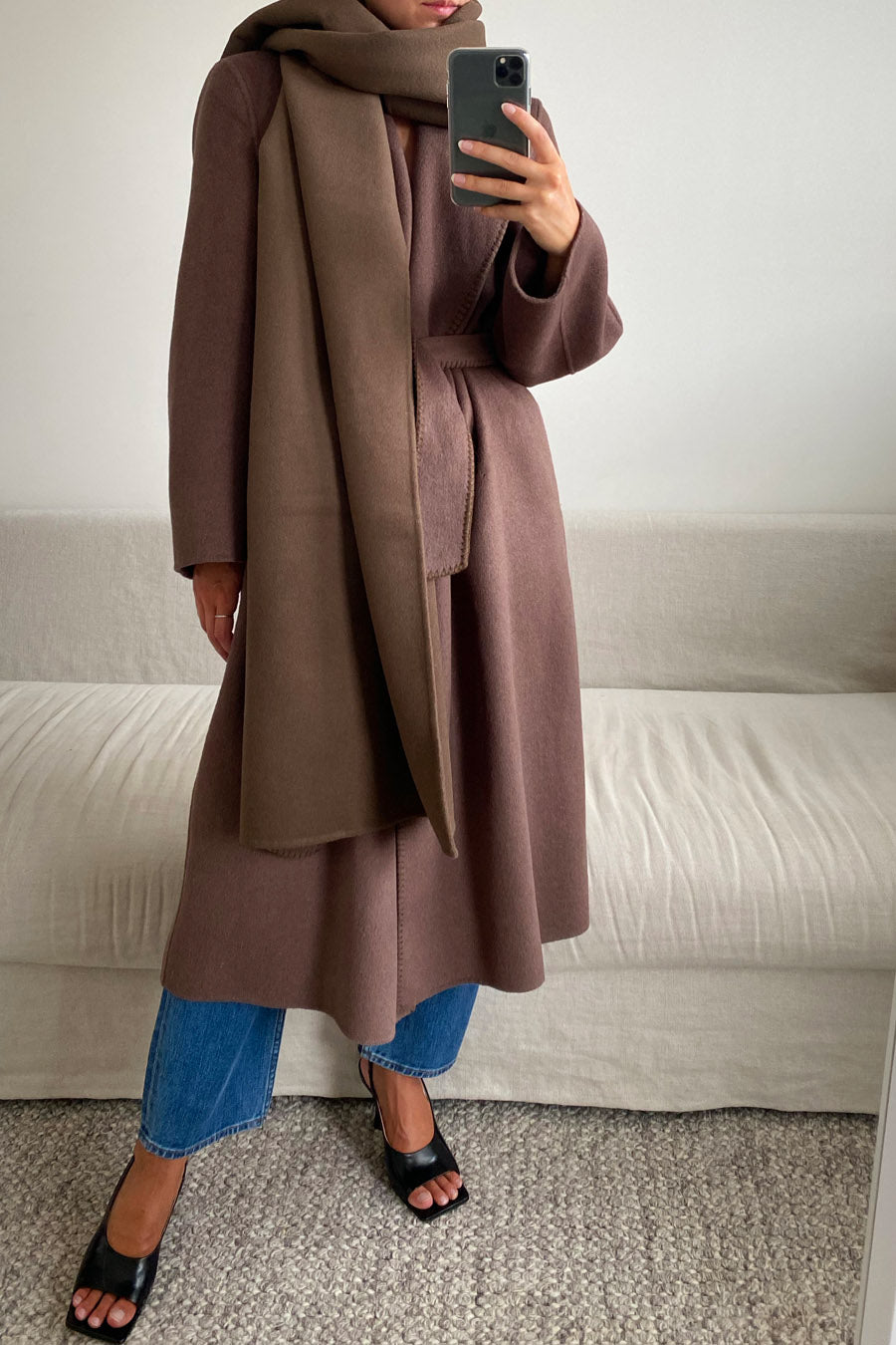 TOLA COAT - DARK BROWN