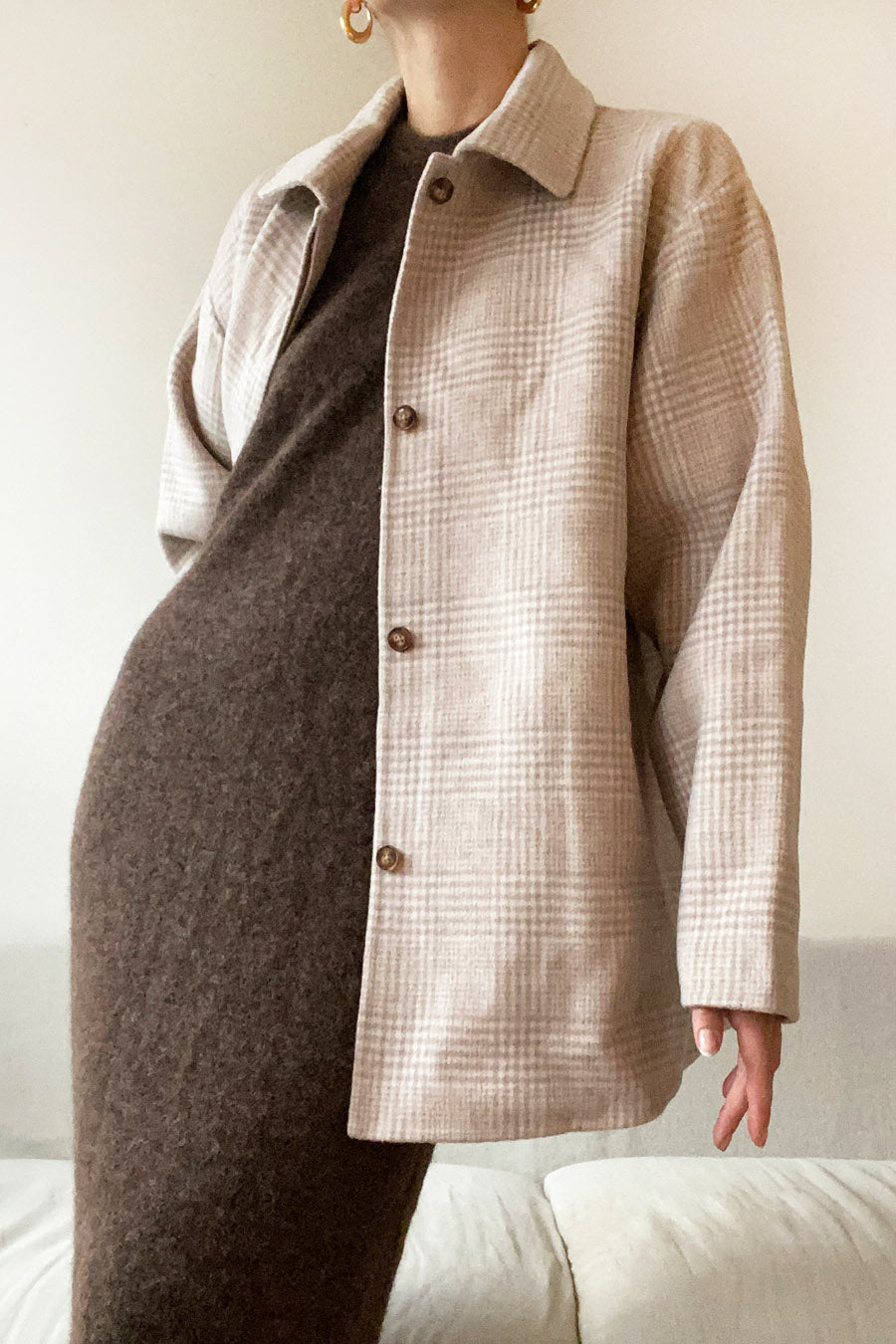 TAPIO JACKET - BEIGE CHECK