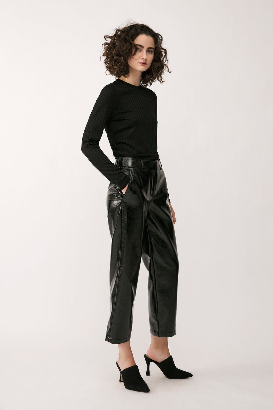 VERDE TROUSERS - BLACK Trousers Stylein
