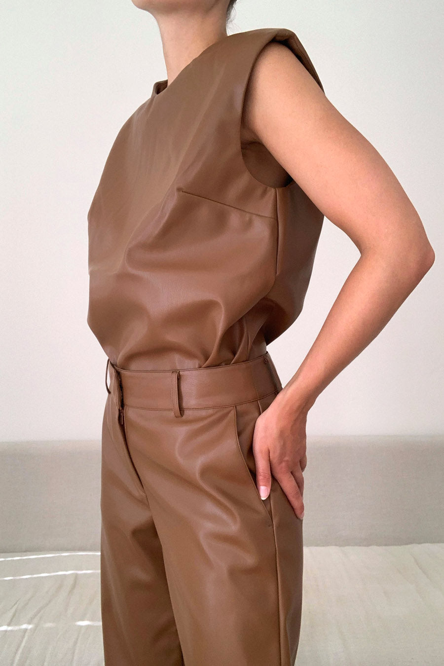 VIDAR TOP - BROWN