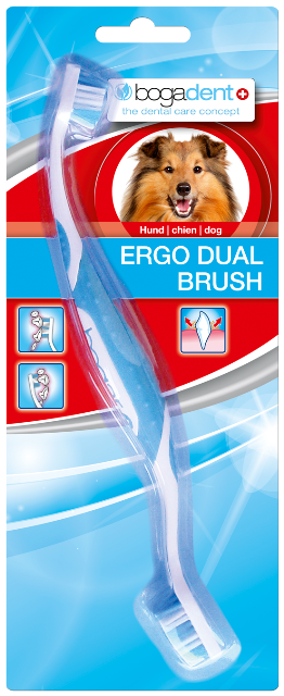 Bogadent ERGO DUAL BRUSH - best4dogs.de