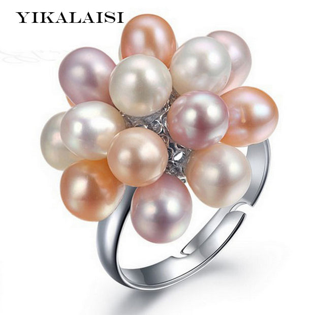 Pearl Flower Ring - Tokalene Jewelry