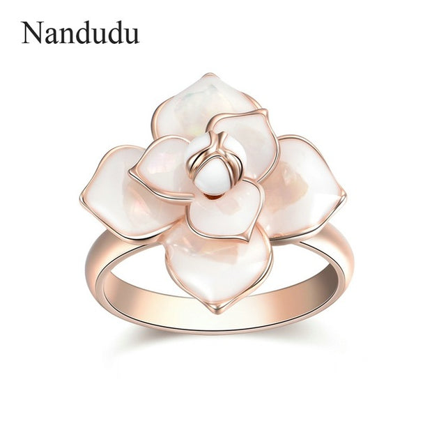 Enamel Flower Ring - Tokalene Jewelry