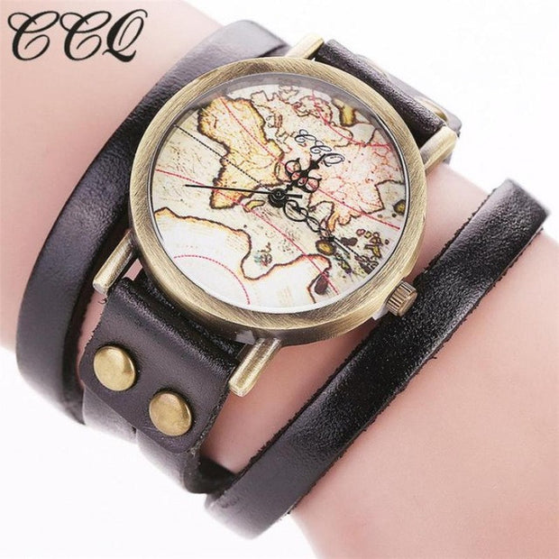 Alloy World Map Wristwatch - Tokalene Jewelry