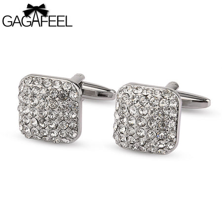 Full Crystal CuffLink For Office - Tokalene Jewelry