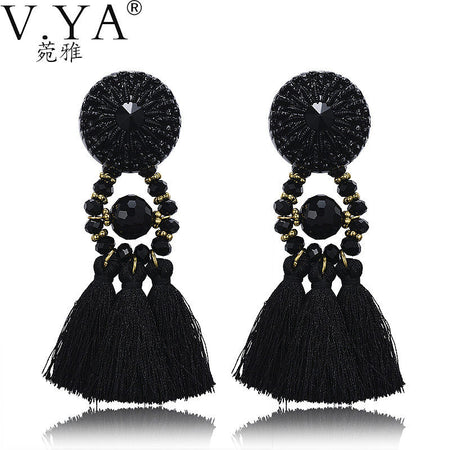 Long Tassel Earings - Tokalene Jewelry