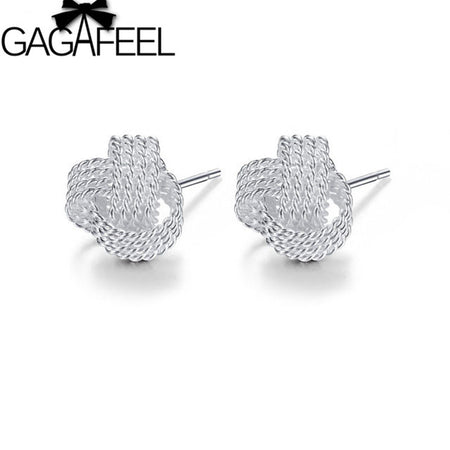 silver plated stud earrings - Tokalene Jewelry