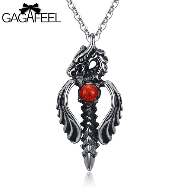 Dragon Sword Pendant Necklace - Tokalene Jewelry
