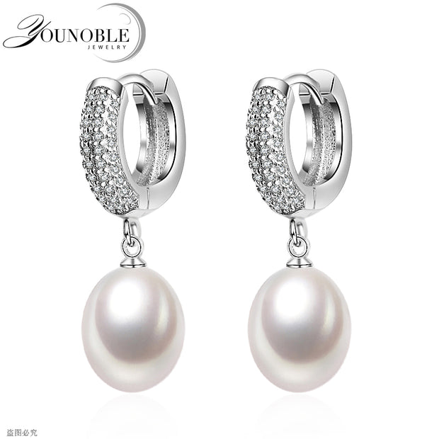 Sterling Silver  Pearl Earrings - Tokalene Jewelry
