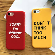 Letters Design Phone Cases For iPhone 6 Case For iPhone 6 6s Plus 5 SE 5s 7 7Plus - Tokalene Jewelry