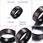 Titanium Black Men's Ring - Tokalene Jewelry