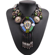 Bead Bib Necklace - Tokalene Jewelry