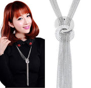 Women Chain Choker Chunky Long Sweater Chain Necklace - Tokalene Jewelry
