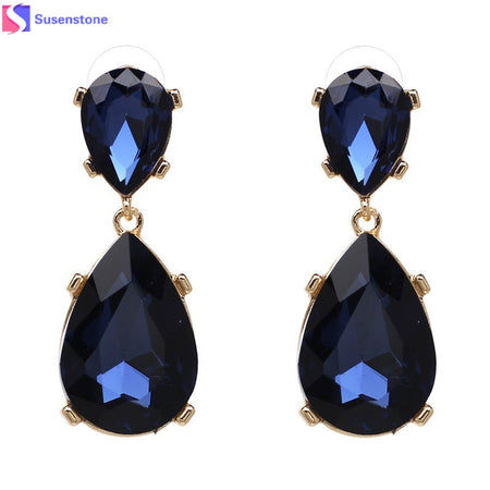 Long Crystal Earring - Tokalene Jewelry