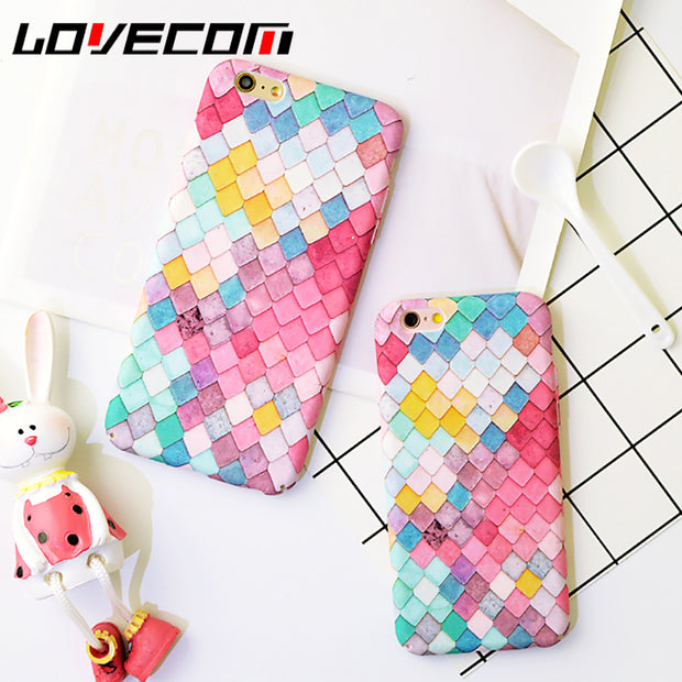 Colorful Scale Frosted Hard PC Phone Case - Tokalene Jewelry