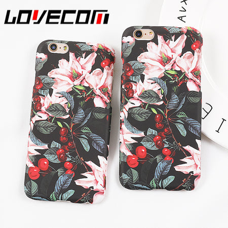 Cherry Tree Flowers Floral Matte Hard Phone Cases - Tokalene Jewelry