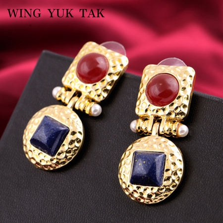 Square Alloy Earring - Tokalene Jewelry