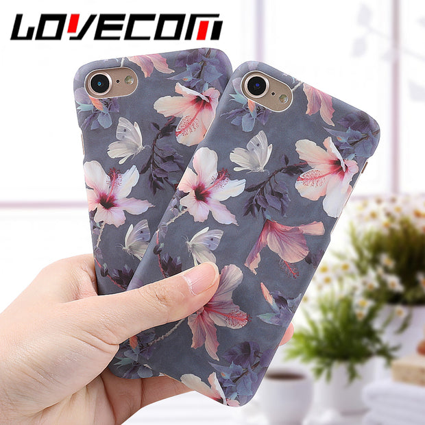 Retro Floral Peach Blossom Flowers Hard PC Phone Cover Cases - Tokalene Jewelry