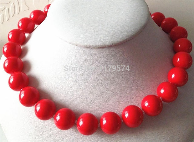 Red Sea Shell Necklace - Tokalene Jewelry