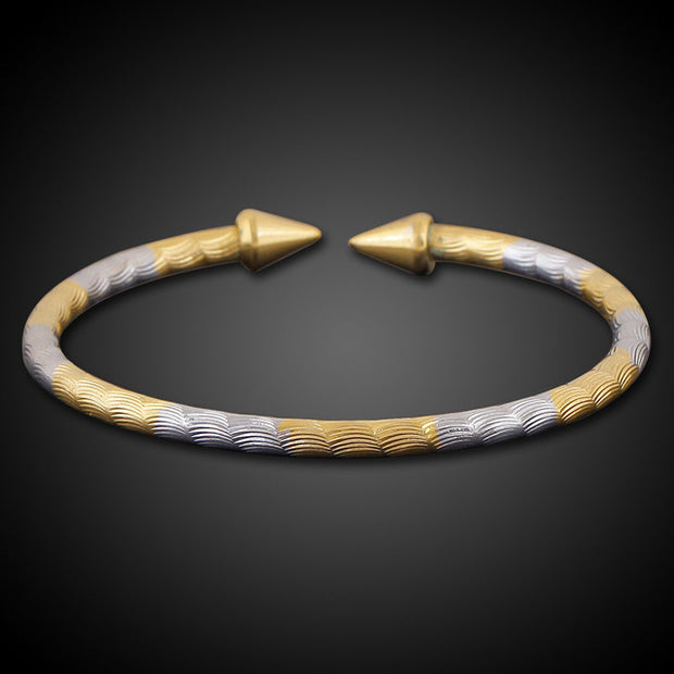 Double Arrow Bangle - Tokalene Jewelry