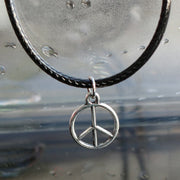 Silver Plated Peace Pendant - Tokalene Jewelry
