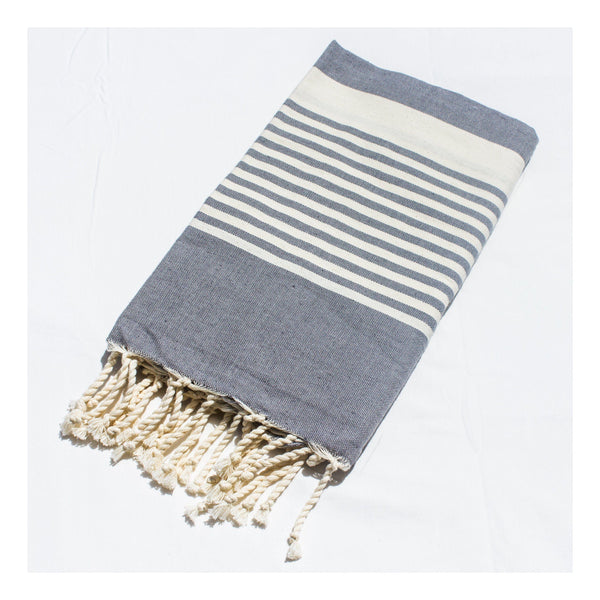 Gift Ideas -  Bath + Body 100% Egyptian Cotton Hammam Towels- Classic Stripe in 4 Patterns