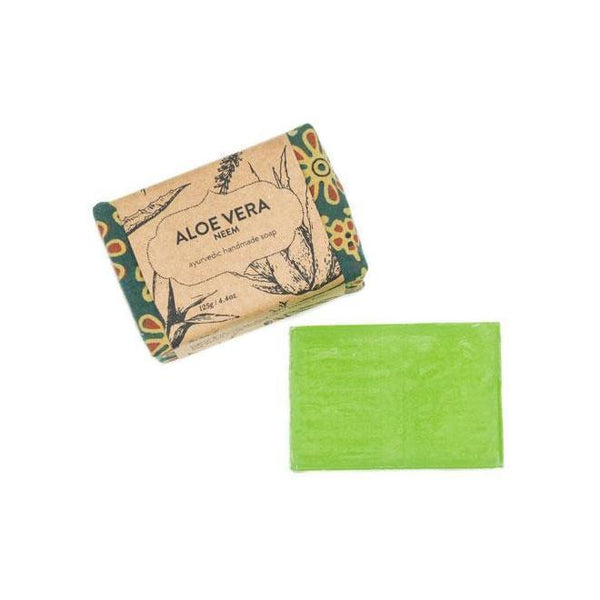 Gift Ideas -  Bath + Body Ayurvedic Soap Bar - Aloe Vera Neem