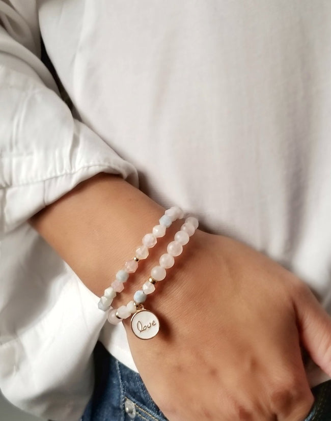 Gift Ideas -  Bracelets Find Love - Crystal Zen Collection Beaded Bracelet