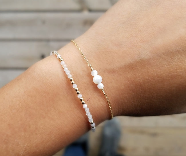 Gift Ideas -  Bracelets Mother of Pearl Bracelet