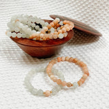Gift Ideas -  Bracelets MOTHER'S DAY EXCLUSIVE Mom and Mini Sunstone & Moonstone Beaded Bracelets