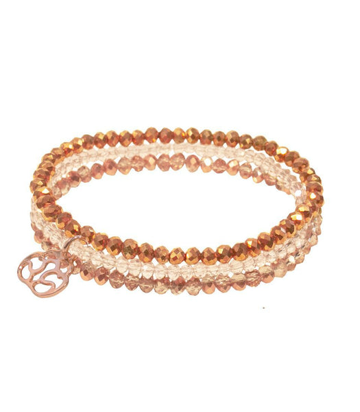 Gift Ideas -  Bracelets Triple Strand Beaded Courage Bracelet