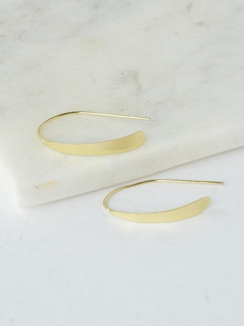 Gift Ideas -  Earrings Faux Hoops - Brass