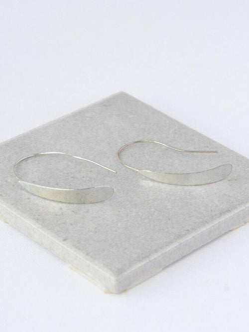 Gift Ideas -  Earrings Faux Hoops - Silver