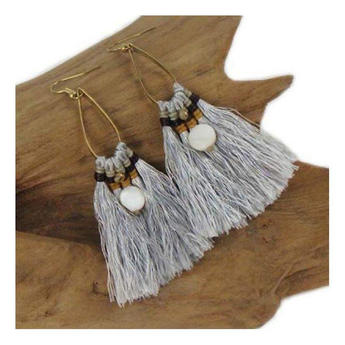 Gift Ideas -  Earrings Fringe Earrings - Silver