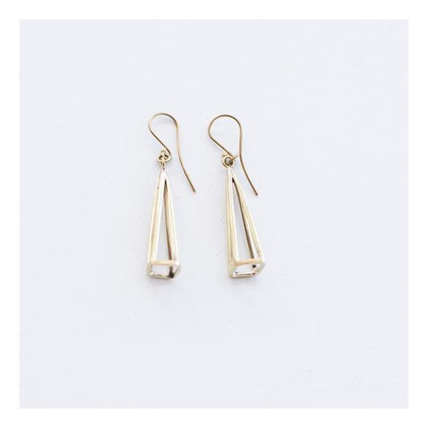 Gift Ideas -  Earrings Geometric Brass Earrings - Silver