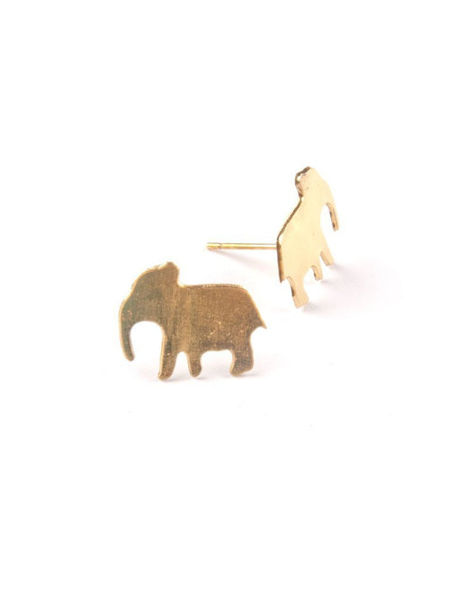 Gift Ideas -  Earrings Good Luck Elephant Stud Earrings in Gold
