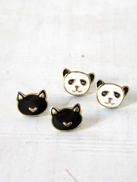 Gift Ideas -  Earrings Kit Cat Stud Earrings in Gold