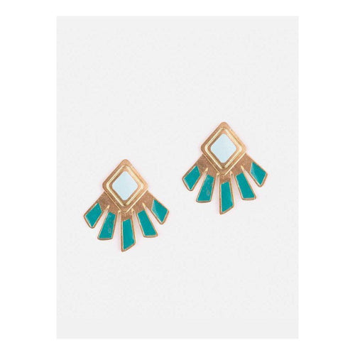 Gift Ideas -  Earrings Kizette Teal Earrings