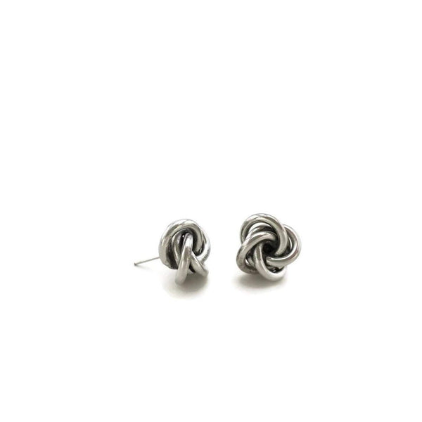 Gift Ideas -  Earrings Knotted Stud Earrings - Gold or Silver