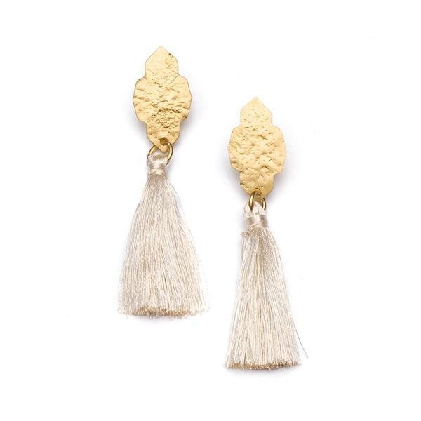 Gift Ideas -  Earrings Nihira Ashram Window Earring with Gold Tassel