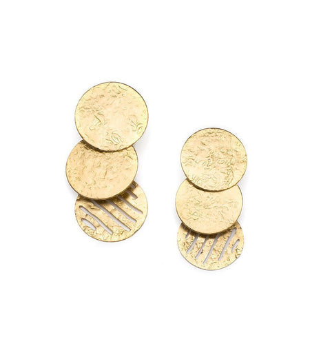 Sunshine Stud Earrings in Gold