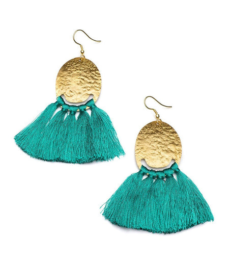 Cozumel Tassel Earrings in Blue