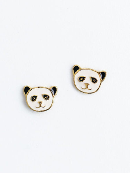 Gift Ideas -  Earrings Panda Stud Earrings in Gold