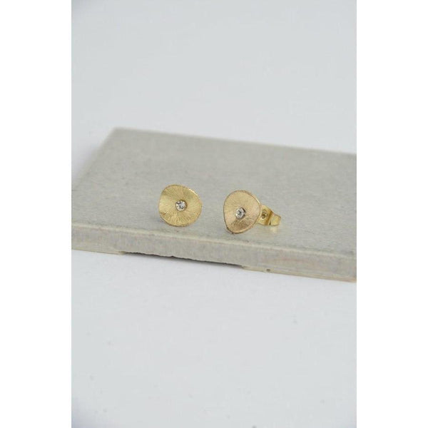 Gift Ideas -  Earrings Poppy Stud Earrings - Gold or Silver