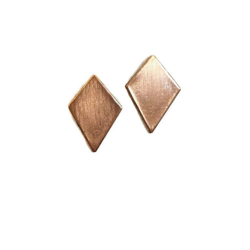 Gift Ideas -  Earrings Spade Copper Studs